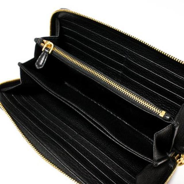 PRADA(プラダ)の4 PRADA  VITELLO GRAIN ブラック ラウンドファスナー長財布 メンズのファッション小物(長財布)の商品写真