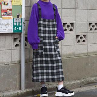 ダブルクローゼット(w closet)のチェックエプロンジャンスカ/ダブクロ(その他)