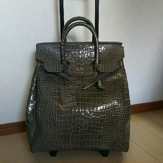 グローブトロッター(GLOBE-TROTTER)の✨美品ZIZINO✨ジジーノ クロコ型押しレザーキャリーバック(スーツケース/キャリーバッグ)