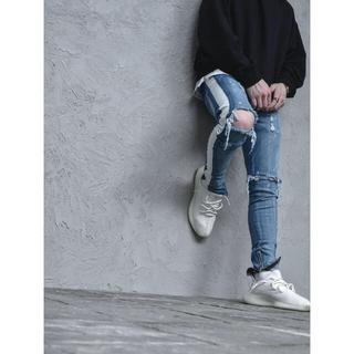オフホワイト(OFF-WHITE)のlakenzie distressed track denim 30(デニム/ジーンズ)