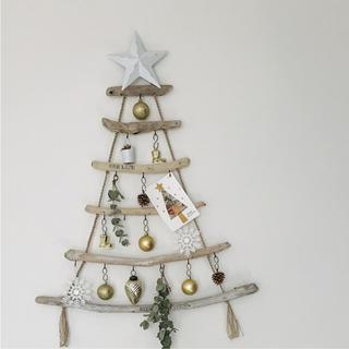 流木ツリー˚✧₊⁎ウォールツリー 壁掛けクリスマスツリー(インテリア雑貨)