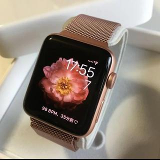 アップルウォッチ(Apple Watch)のApple Watch series2  ローズゴールド 42mm ピンクバンド(その他)