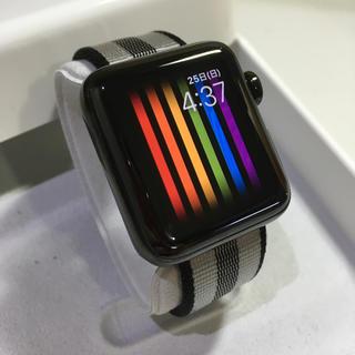 アップルウォッチ(Apple Watch)のApple Watch series3 ブラックステンレス 38mm(その他)