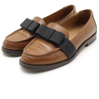 ディエゴベリーニ(DIEGO BELLINI)のディエゴベリーニ DIEGO BELLINI リボン ローファー 36(ローファー/革靴)