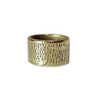 アッシュペーフランス(H.P.FRANCE)のSERGE THORAVAL  セルジュトラヴァル メッセージリング【GOLD】(リング(指輪))