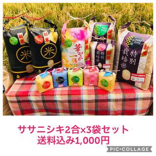 ちゃんみ様専用ページ☆宮城県産ササニシキ2合×3袋セット(米/穀物)