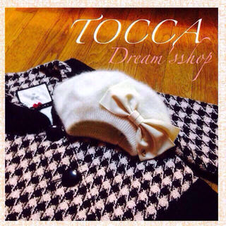 トッカ(TOCCA)のTOCCA*ふわふわおリボン帽子(ハンチング/ベレー帽)