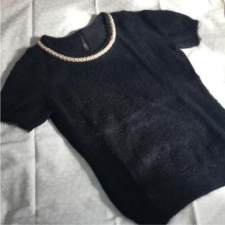 イネド(INED)のイネドの半袖ニット アンゴラ混(ニット/セーター)