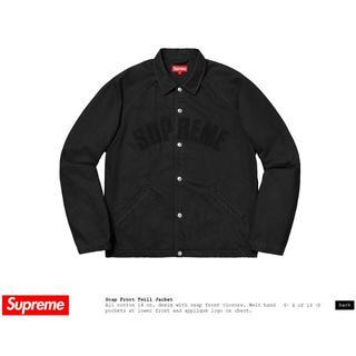 シュプリーム(Supreme)の売り切り★snap front twill jacket (Gジャン/デニムジャケット)