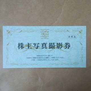 【U-PINK様専用】 スタジオアリス 株主優待 1枚(その他)