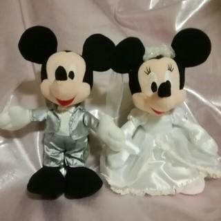 ディズニー(Disney)のぬいぐるみ。ミッキー&ミニー。(ぬいぐるみ/人形)