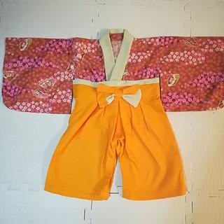ハンドメイド 袴ロンパース(和服/着物)