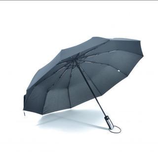 自動開閉らくらく折り畳み傘 男女兼用 大型サイズ 直径105㎝ 黒色(傘)