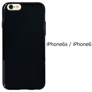 iphone6/6s対応 ソフトカバー 耐衝撃 黒(スマホケース)