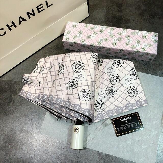 5f3cab9685a8 CHANEL - シャネル(CHANEL)自動 日傘 晴雨兼用 折り畳み傘 の通販 by ...