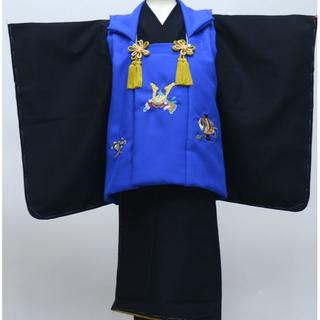 七五三 3才 三才 三歳 男児 被布 着物 フルセット 兜刺繍 NO27335(和服/着物)