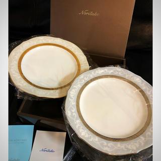 ノリタケ(Noritake)の新品未使用 ノリタケ ハンプシャーゴールド&プラチナ お皿 ペア(食器)