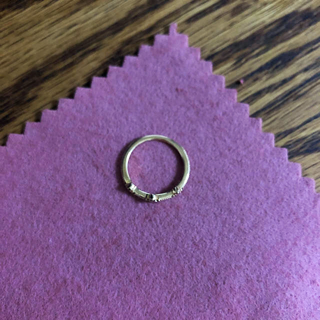agete(アガット)の【アガット】ピンキーリング3号 レディースのアクセサリー(リング(指輪))の商品写真