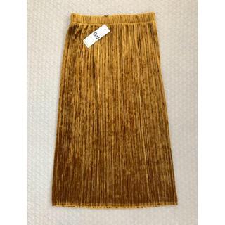 ジーユー(GU)の新品タグ付き GU ベロアプリーツスカート(ロングスカート)