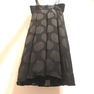 アクアガール(aquagirl)のフォーマルワンピース黒水玉Aライン(その他ドレス)