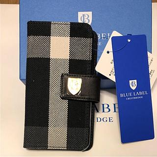 バーバリーブルーレーベル(BURBERRY BLUE LABEL)の新品 ブルーレーベル クレストブリッジ iPhoneケース(iPhoneケース)