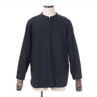 ヤエカ(YAECA)のbukht ブフト プルオーバーハーフジップシャツ ブラック M(シャツ)
