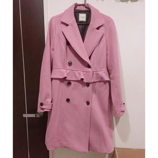 イートミー(EATME)のEATME ピンク コート フリル 完売品(ロングコート)