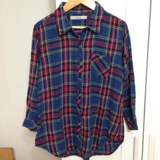 シュカ(shuca)のシュカのチェックシャツ レッド×モスグリーン(シャツ/ブラウス(長袖/七分))
