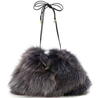 アングローバルショップ(ANGLOBAL SHOP)の新品タグ付き arron foxファー 巾着バッグ(ショルダーバッグ)