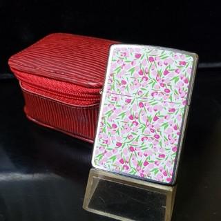 ジッポー(ZIPPO)の新品❤96G'ZIPPO♥ケースが可愛い❤小花柄プリント❤送料無料♥(タバコグッズ)