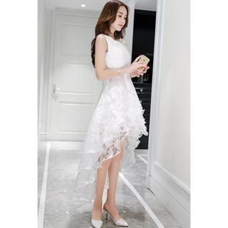 テールカットドレス  ホワイト  パーティードレス  かわいい(その他ドレス)