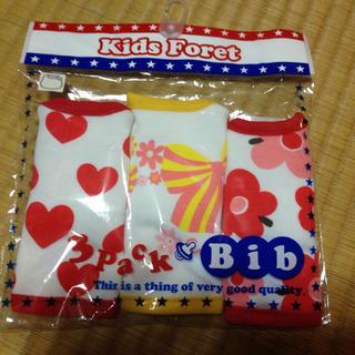 キッズフォーレ(KIDS FORET)のスタイ 新品未使用 3枚セット kids foret(ベビースタイ/よだれかけ)