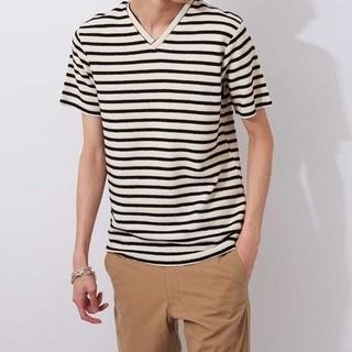 エムケーミッシェルクランオム(MK MICHEL KLEIN homme)の新品 MK MICHEL KLEIN HOMME ボーダーカットソー M(Tシャツ/カットソー(半袖/袖なし))