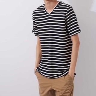 エムケーミッシェルクランオム(MK MICHEL KLEIN homme)の新品 MK MICHEL KLEIN HOMME ボーダー カットソー L(Tシャツ/カットソー(半袖/袖なし))