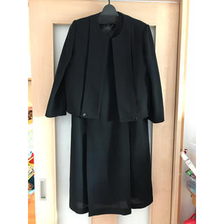 アオキ(AOKI)のブラックワンピース フォーマル 喪服 礼服 15号(礼服/喪服)