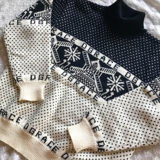 ディグレース(DGRACE)の【DGRACE】ウール100 柄ニット ノルディック セーター★黒 ビンテージ(ニット/セーター)