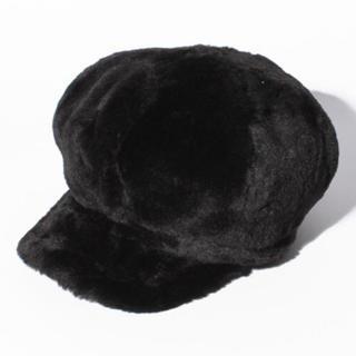 ナイスクラップ(NICE CLAUP)のファーキャスケット ブラック 黒 ナイスクラップ(キャスケット)