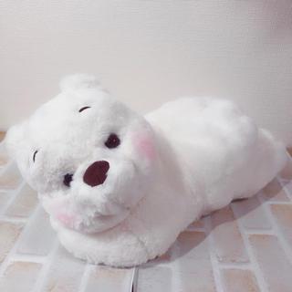 クマノプーサン(くまのプーさん)のティッシュ箱カバー プーさん ホワイト  White Pooh   (ティッシュボックス)