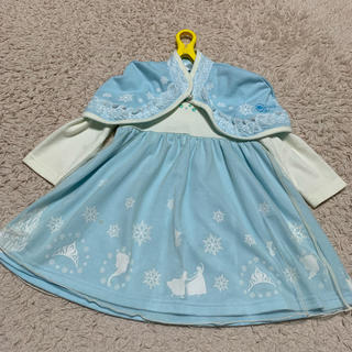 しまむら - しまむら ディズニー エルサ 90cm なりきりドレス