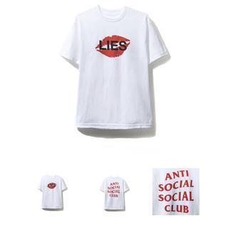 アンチ(ANTI)のanti social social club Lies White Tee M(Tシャツ/カットソー(半袖/袖なし))
