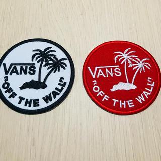 VANS - VANS ステッカー バンズ ワッペン 2枚セット 新品 白 赤