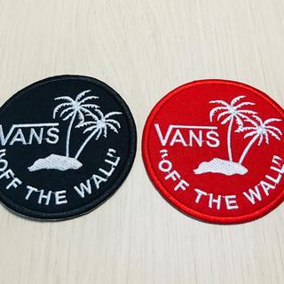 VANS - VANS ステッカー バンズ ワッペン 2枚セット 新品 赤 黒
