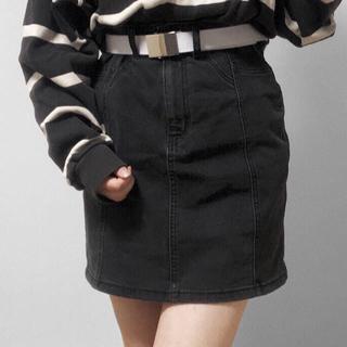GU - GU デニムミニスカート