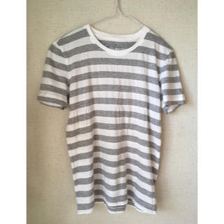 MUJI (無印良品) - 無印良品 Tシャツ コットン100% 綿 ボーダー