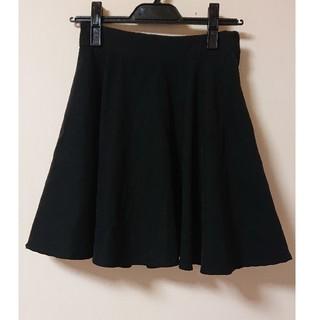 シマムラ(しまむら)の黒スエード調フレアスカート♡M(ミニスカート)