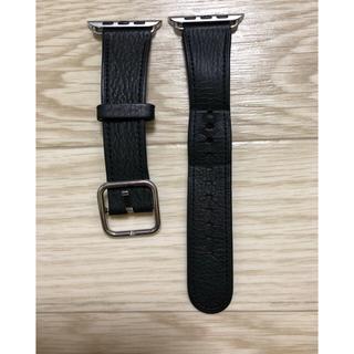 アップルウォッチ(Apple Watch)のApple Watch 42mm用バンド クラシックバックル ブラック レザー(レザーベルト)