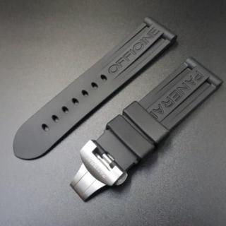 パネライ(PANERAI)のパネライ用 panerai ラバーバンド ラバーベルト 24mm 社外品(ラバーベルト)