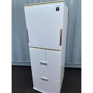 シャープ(SHARP)のシャープ 冷凍冷蔵庫 自動製氷付き 5ドア 380L プラズマクラスター(冷蔵庫)