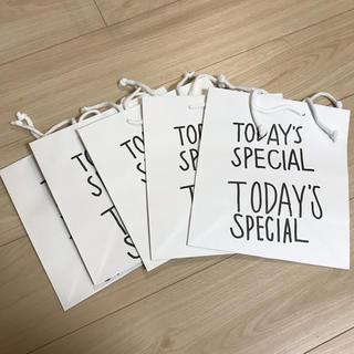 シボネ(CIBONE)のtoday'sspecial 紙袋 5枚セット(ショップ袋)