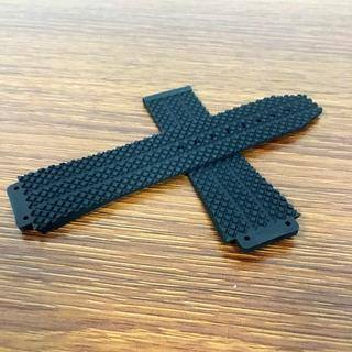 社外品 ウブロ腕時計用 26mm ラバーベルト 黒(ラバーベルト)